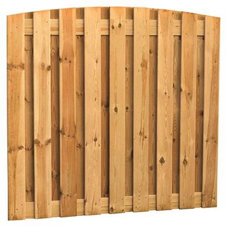 Grenen toogscherm 19-planks