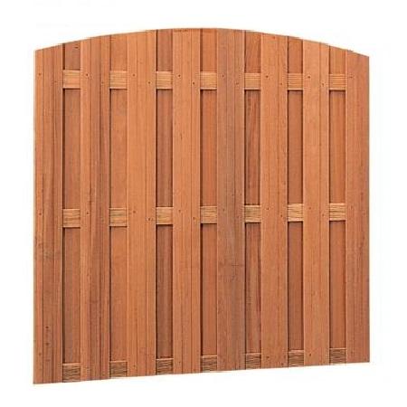 Hardhouten toogscherm 18-planks