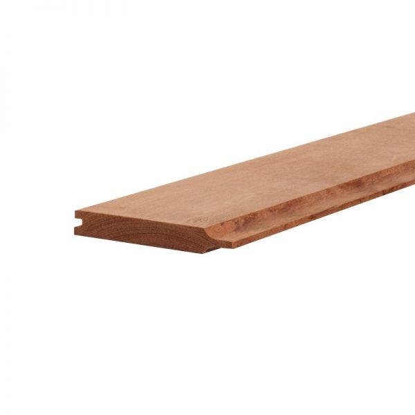 Hardhout rabat plank 2x14,5cm