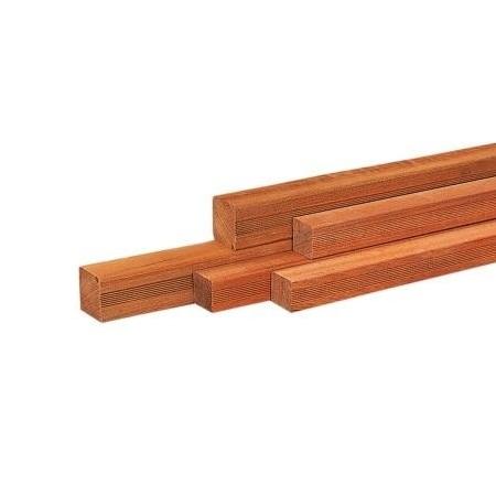 Hardhout geschaafde vierkante palen 6,5x6,5cm