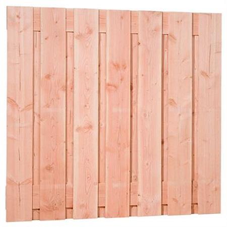 Douglas plankenscherm 15-planks groen geïmpregneerd