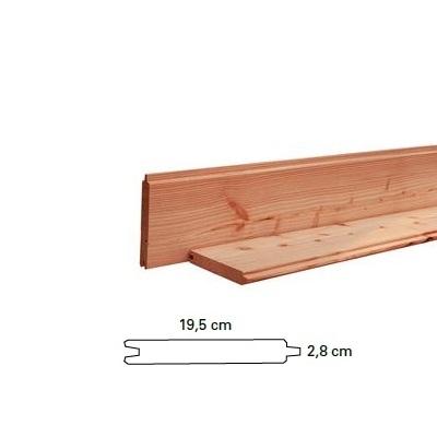Douglas blokhutprofielen 2,8x19,5cm