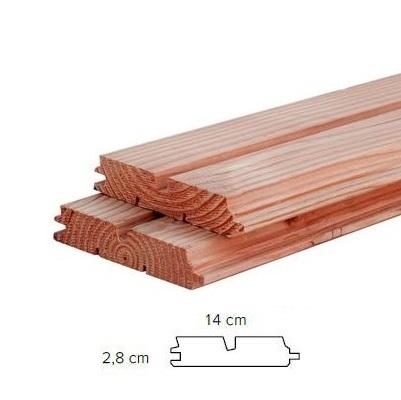 Douglas dubbel rhomprofiel 2.8x14.0cm