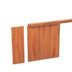 Hardhout geschaafde damwandregel