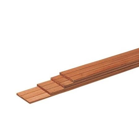 Hardhout geschaafde plank 1,5x14,5cm