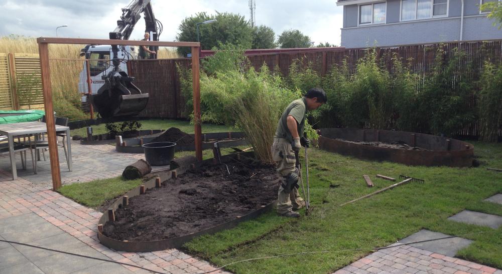 Tuinhout utrecht aanleggen tuin