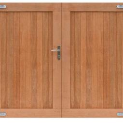 Hardhouten dubbele toegangspoort 300x180cm
