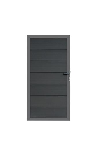 Composiet deur grijs