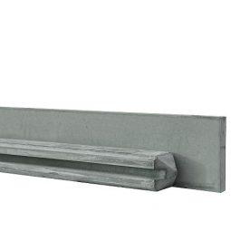 Betonpaal met sleuf 11,5x11,5cm GRIJS