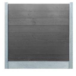grijs steigerhouten schermsysteem 2,9 x 25 x 224 cm