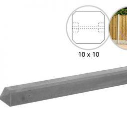 Betonpaal glad grijs zonder coating