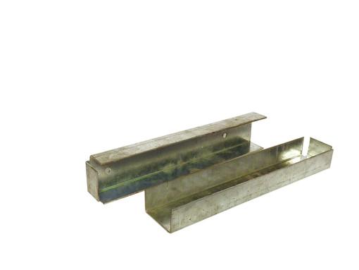 U-profiel t.b.v. betonplaat muur- of hoekbevestiging