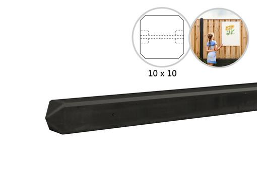 Antraciet betonpalen met coating t.b.v. motief platen