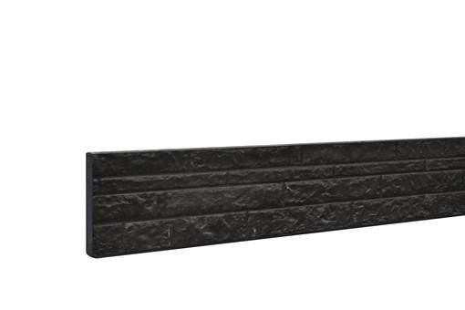 Betonplaat rotsmotief dubbelzijdig_36x3,5x184cm_antraciet met coating